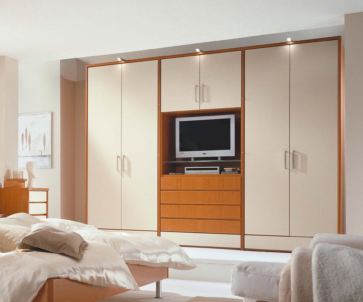 Schlafzimmer gestalten mit concept - Kleiderschrank mit fernseher ...