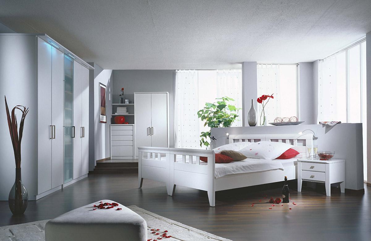 Schlafzimmer Concept II in Lack Weiß
