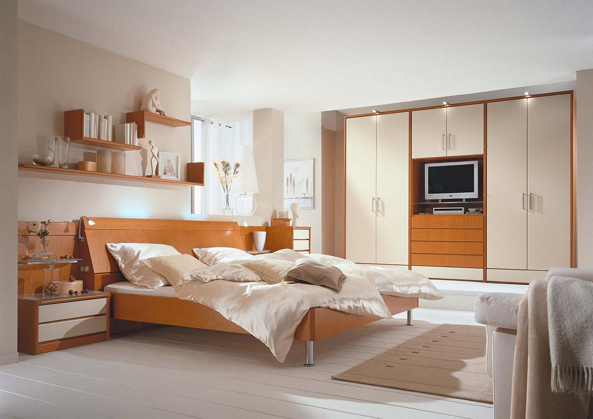 schlafzimmer in kirschbaum. Black Bedroom Furniture Sets. Home Design Ideas