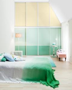 Schlafzimmer mit perfekt ausgenutzter Dachschräge
