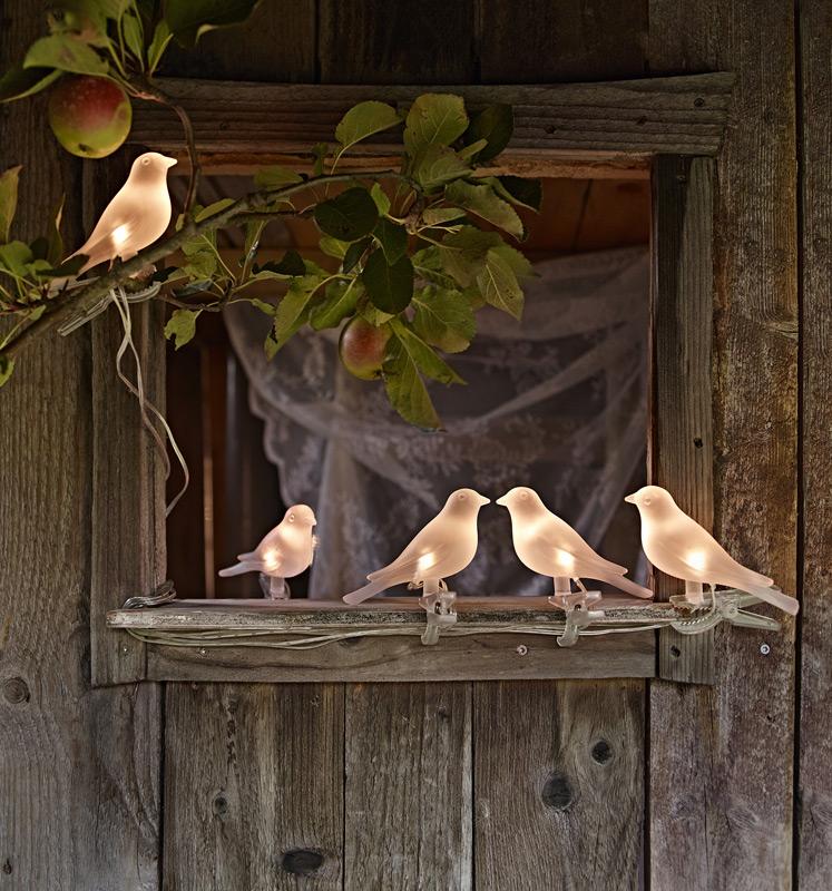 lichterkette mit vogel motiv. Black Bedroom Furniture Sets. Home Design Ideas