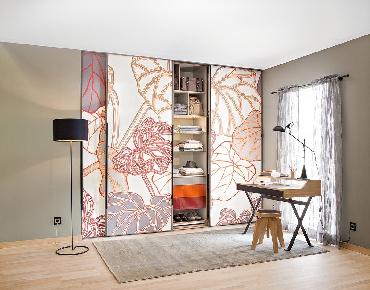 Kleiderschrank Cabinet mit Motivtapete