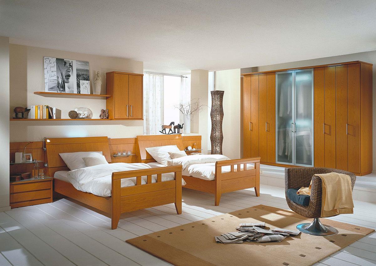 Schlafzimmer mit Sprossenbetten - Wohnello.de