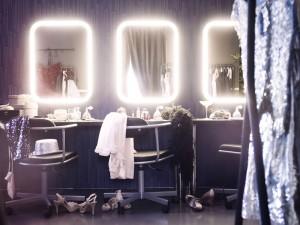 Spiegel mit LED Leuchten