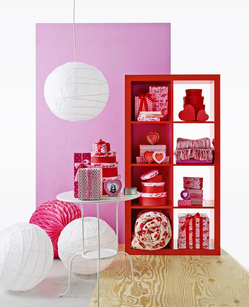 Valentinstag - Bilderrahmen, Schachteln Duftteelichter