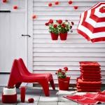 Gartenaccessoires in Rot